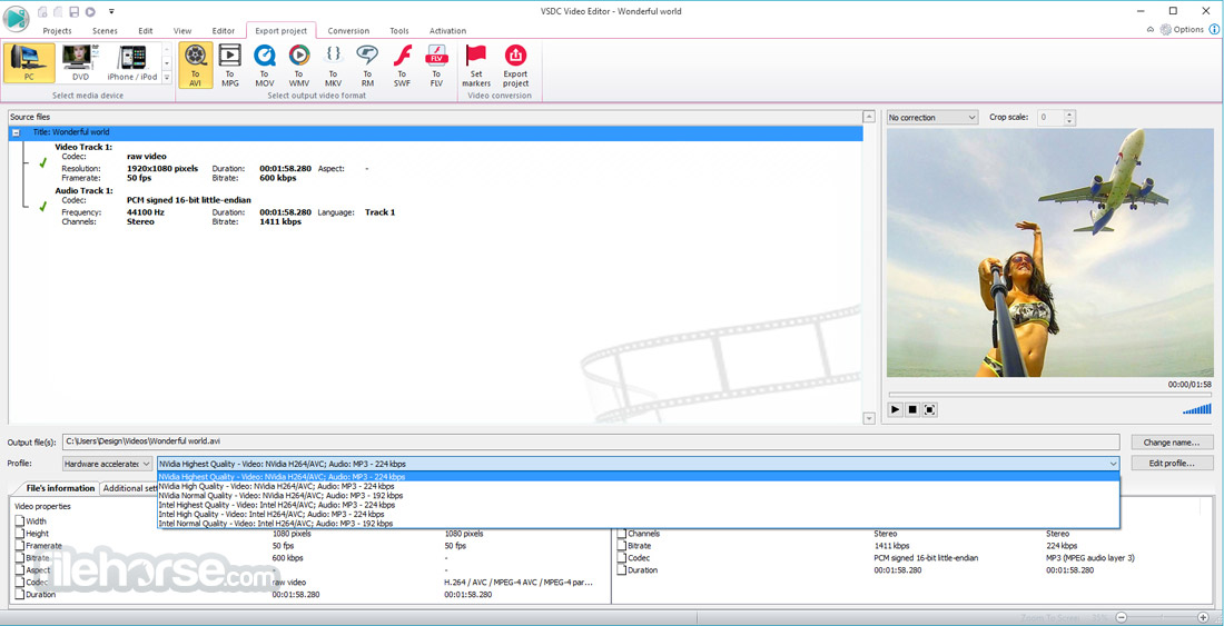 VSDC Free Video Editor 5.8.7.829 (64-bit) Captura de Pantalla 3