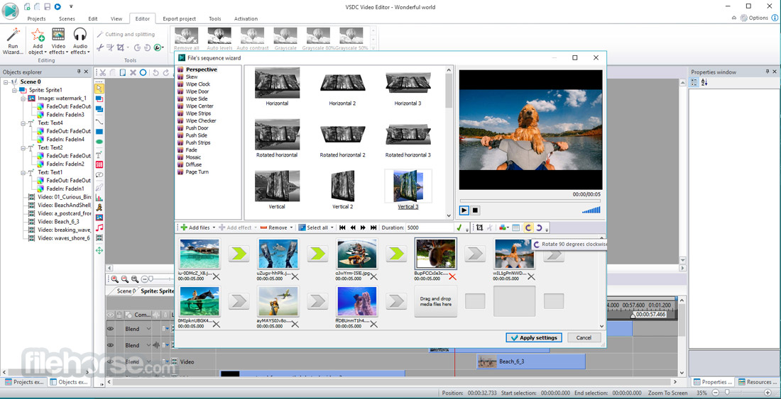 VSDC Free Video Editor 5.8.6.805 (32-bit) Screenshot 4