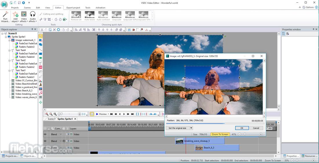 VSDC Free Video Editor 5.8.6.805 (32-bit) Screenshot 5