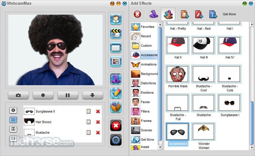 WebcamMax 8.0.7.8 Captura de Pantalla 2