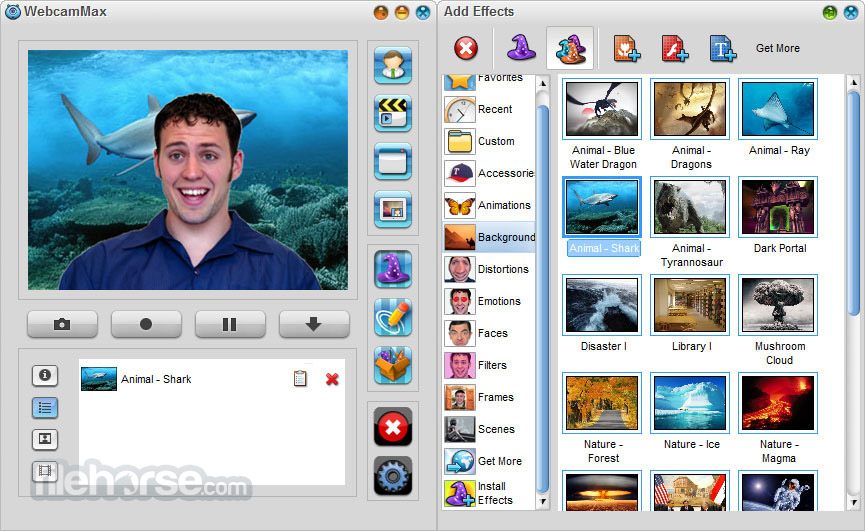 WebcamMax 8.0.7.8 Captura de Pantalla 3