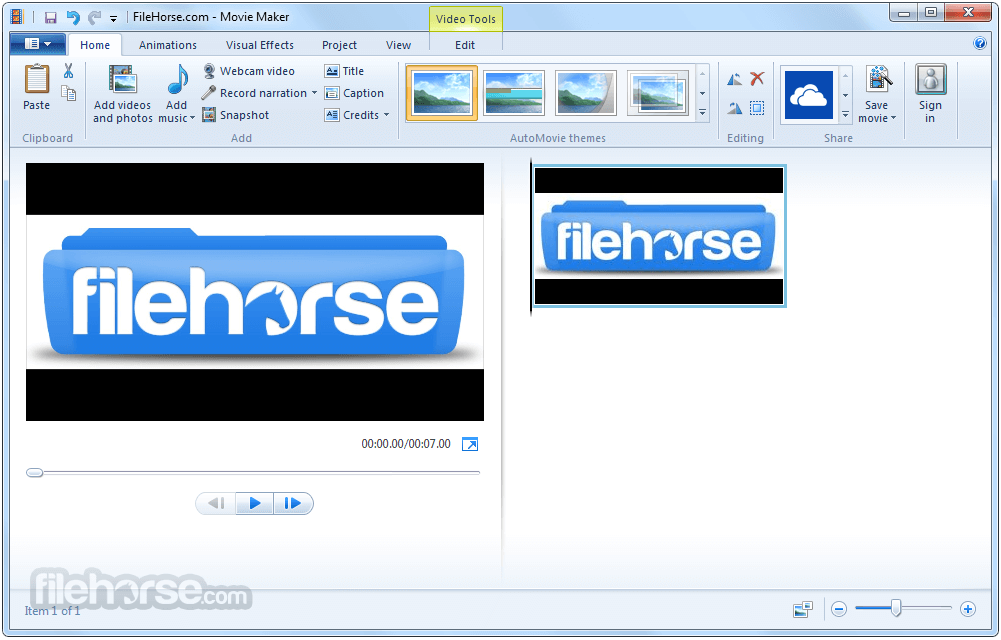 Windows Live Movie Maker 2012 16.4.3528.0331 Screenshot 1