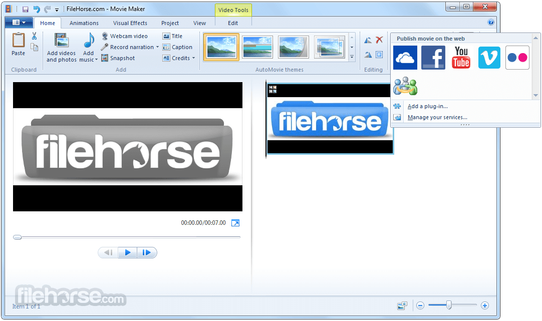 Windows Live Movie Maker 2012 16.4.3528.0331 Screenshot 3