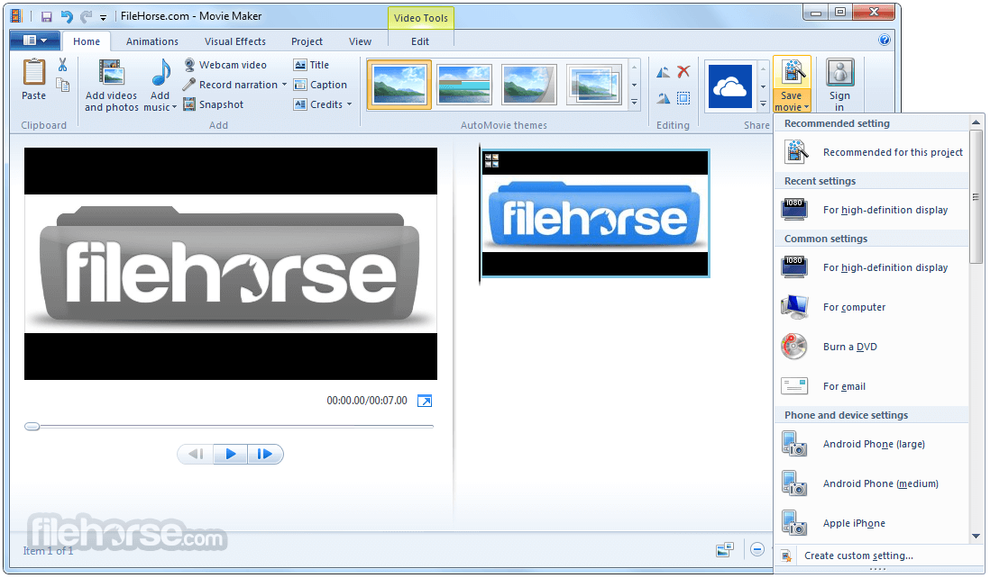 Windows Live Movie Maker 2012 16.4.3528.0331 Screenshot 4