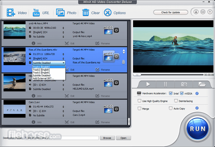 WinX HD Video Converter Deluxe Download [2020 Latest] for PC