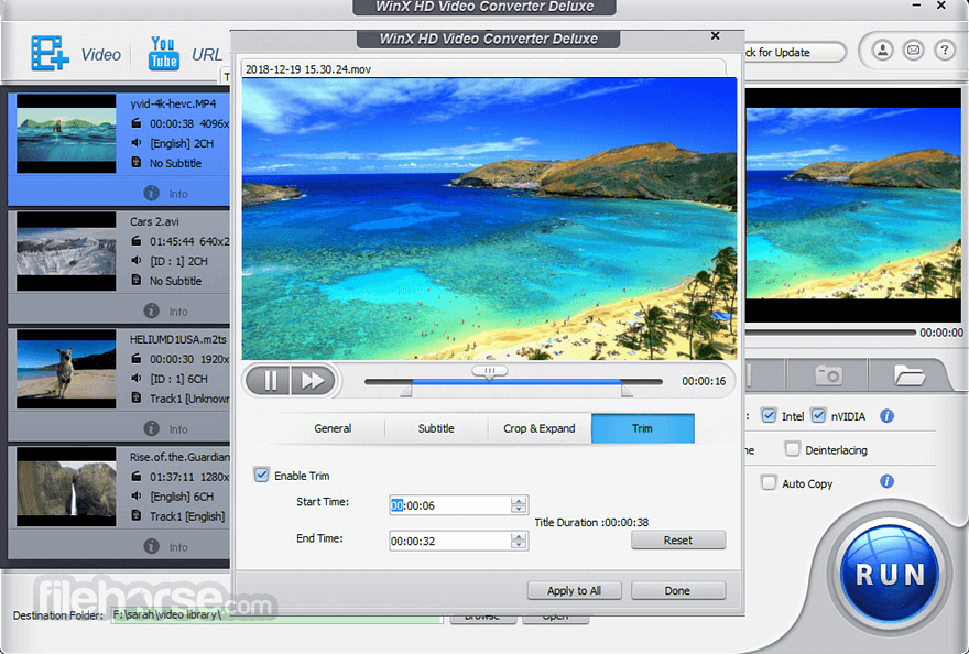 WinX HD Video Converter Deluxe Download (2019 Latest) for PC
