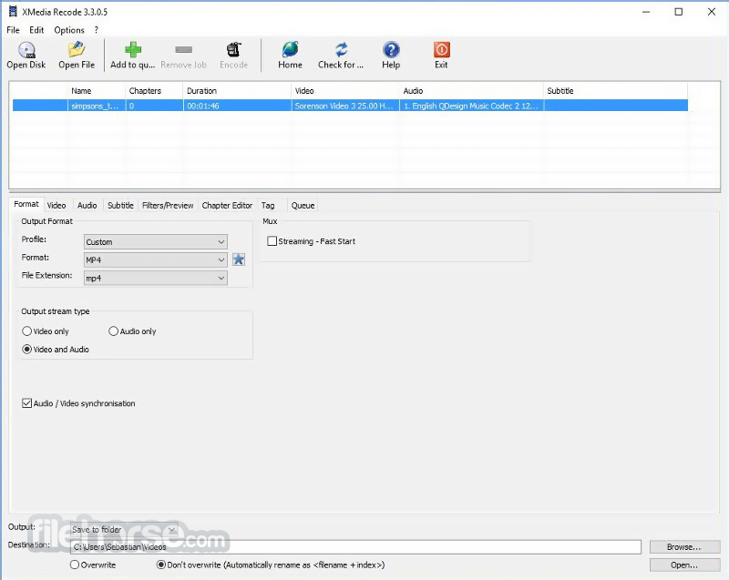XMedia Recode 3.3.9.1 Screenshot 1