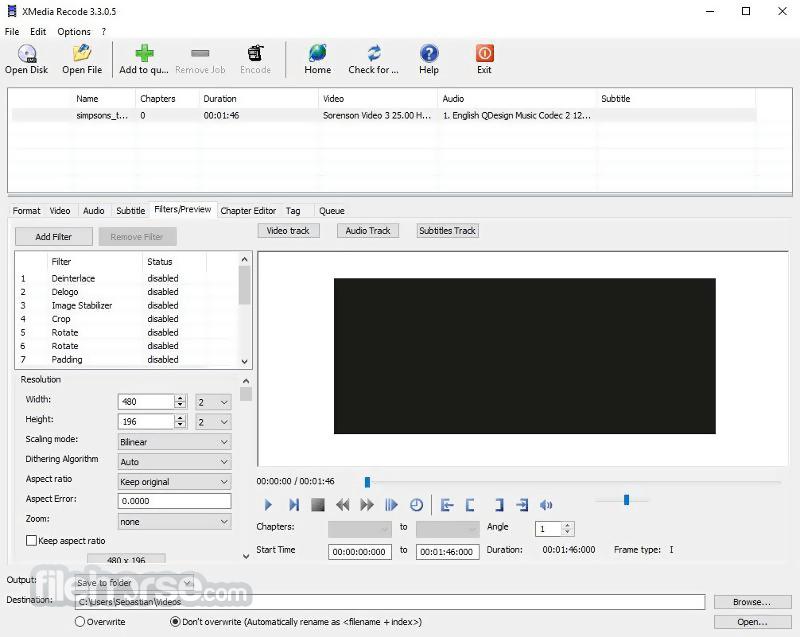 XMedia Recode 3.4.4.5 Captura de Pantalla 4