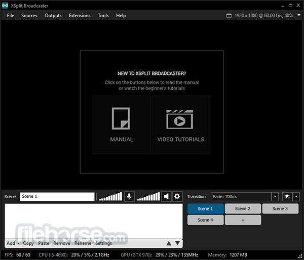 XSplit Broadcaster 3.4.1806.2217 Captura de Pantalla 2