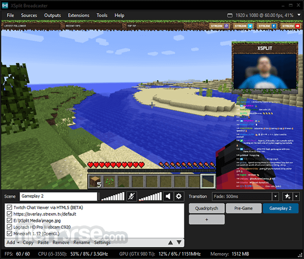 XSplit Broadcaster 3.3.1805.0302 Screenshot 3